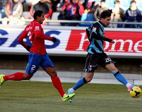 Rennella, autor del gol de la última victoria del Lugo fuera de casa, en Soria ante el Numancia.