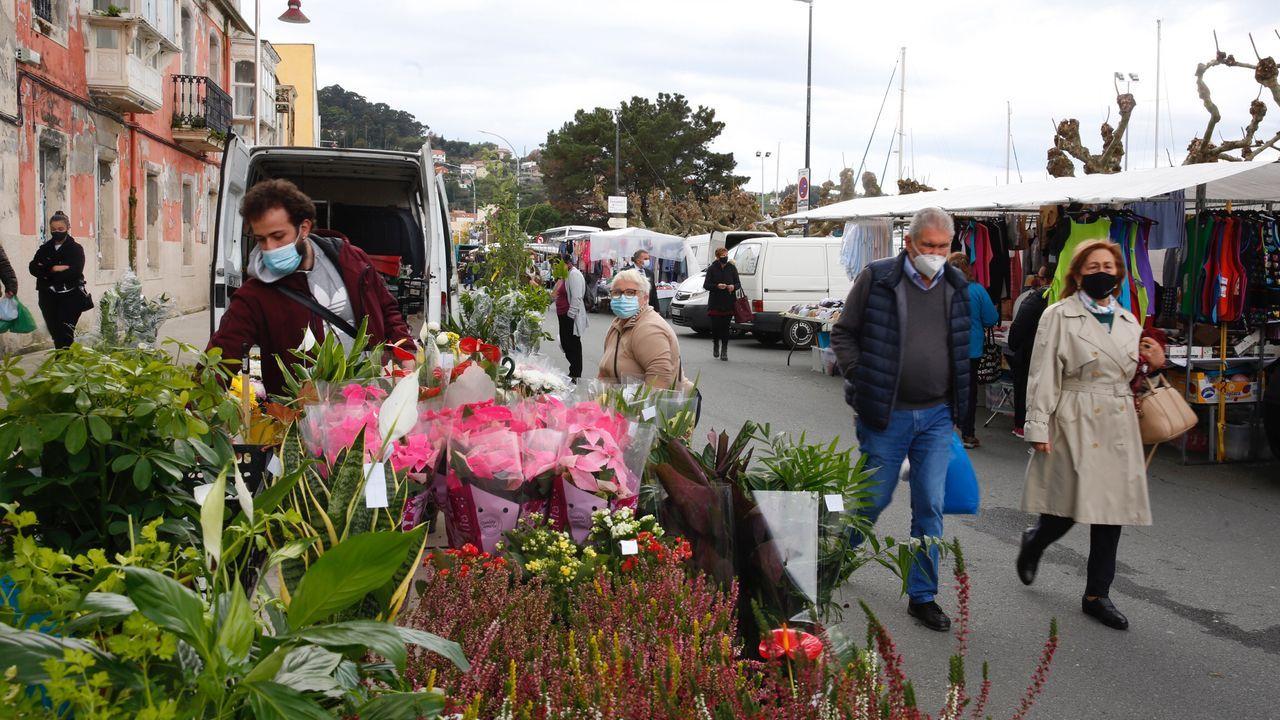 Controles policiales en el acceso a Pontevedra por la avenida de Lugo