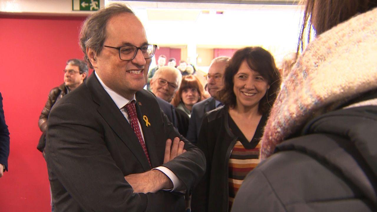 EN DIRECTO: Comparece la ministra portavoz María Jesús Montero.Anna Erra, alcaldesa de Vic, con Quim Torra, presidente de la Generalitat