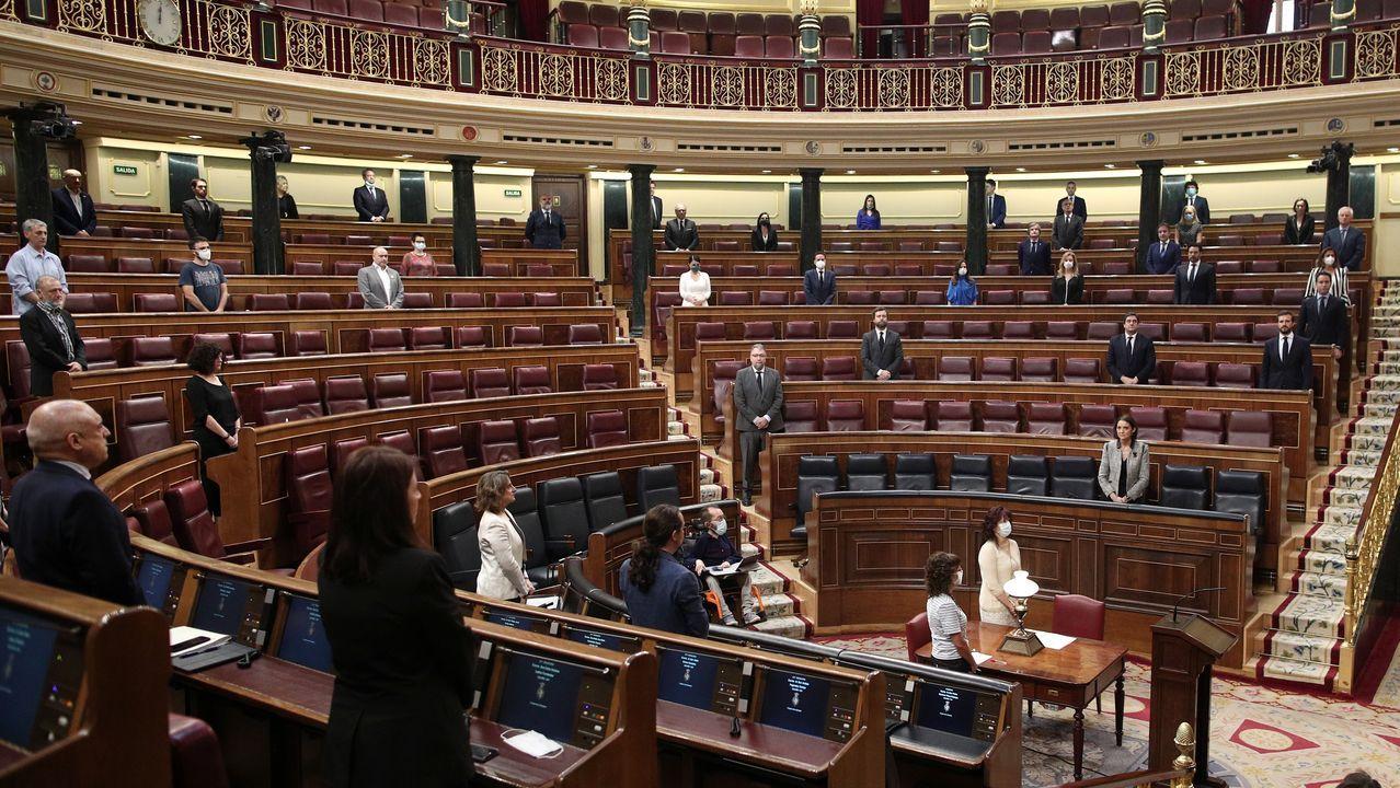 Minuto de silencio en el Congreso