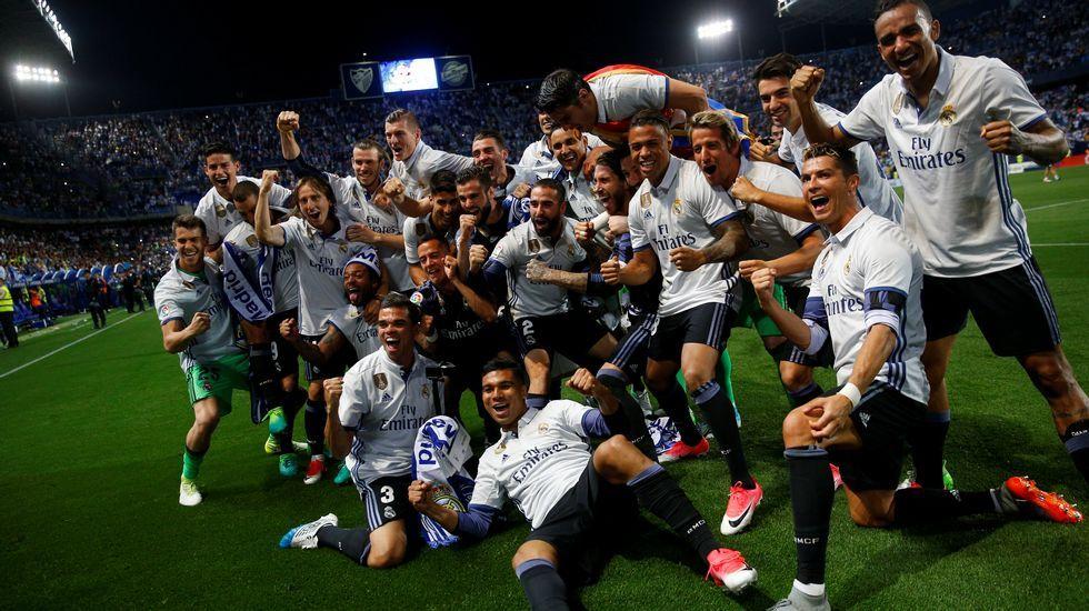 Éxtasis del Real Madrid en La Rosaleda