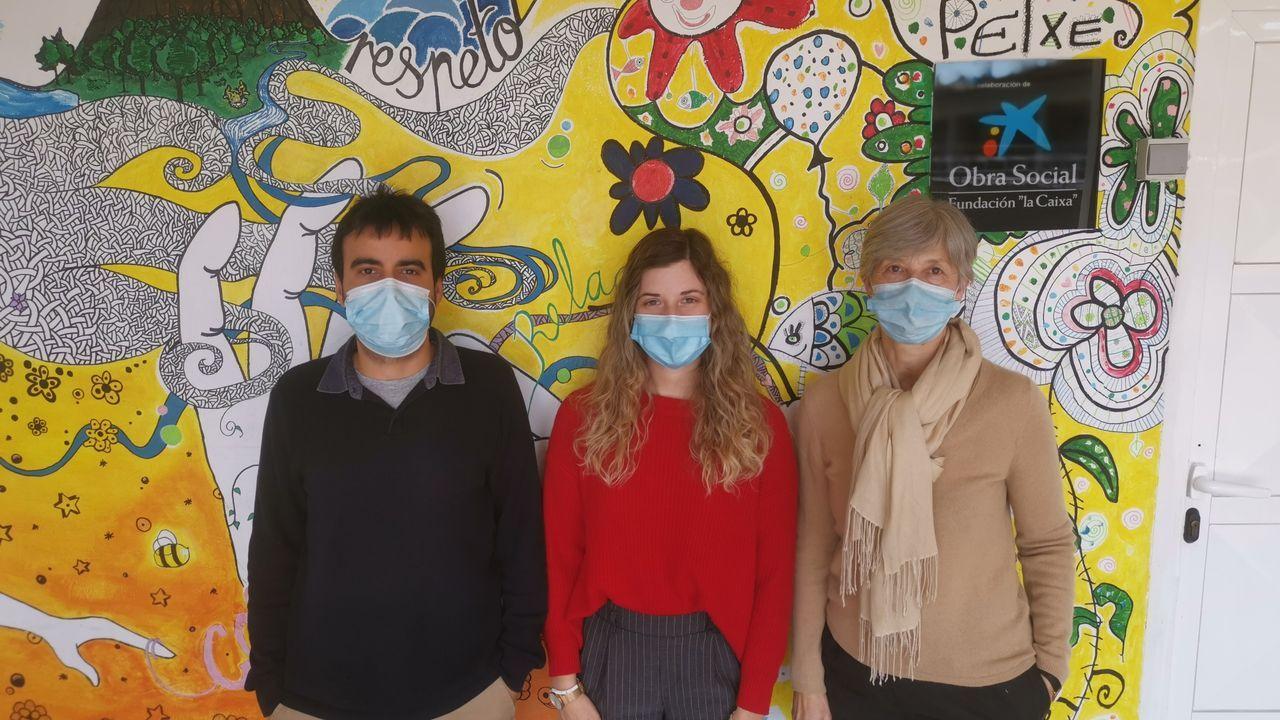 Rubén Capelán, Tamara González y Inma Tebernero trabajan en la Asociación Acopros.