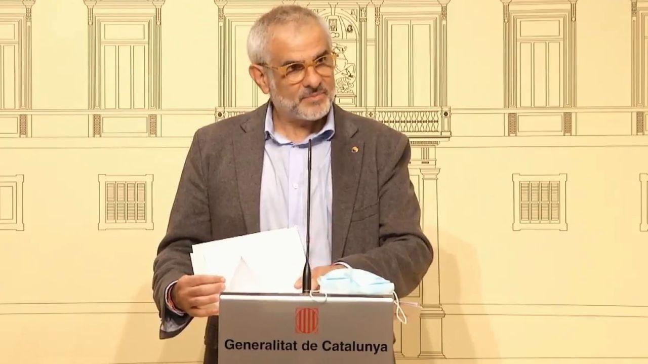 Carlos Carrizosa, líder de Ciudadanos en el Parlamento catalán.La líder de Ciudadanos, Inés Arrimadas, en una sesión de control al Gobierno en el Congreso de los Diputados.