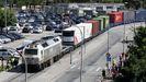 La última vez que el tren recorrió el trazado portuario de Vilagarcía fue el 20 de marzo del año pasado