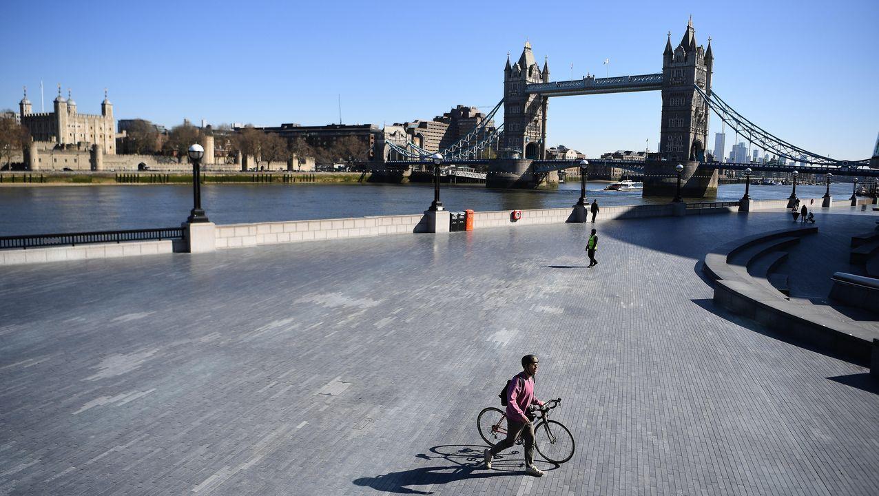 Imagen del puente de Londres, el martes