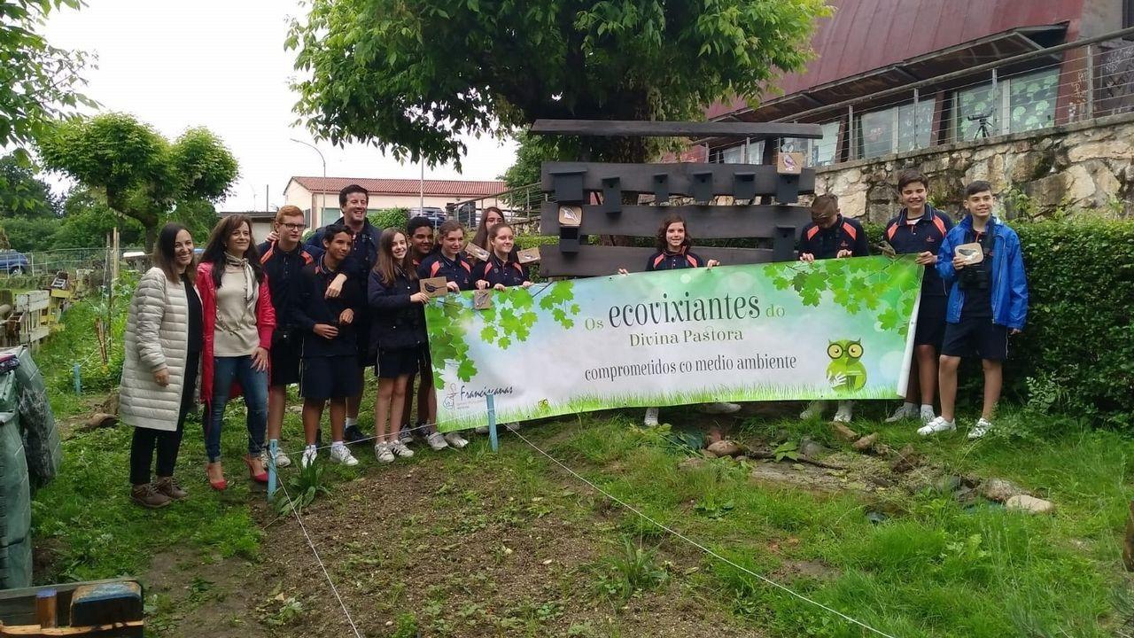 Los ecovigilantes del colegio de las Franciscanas de Ourense