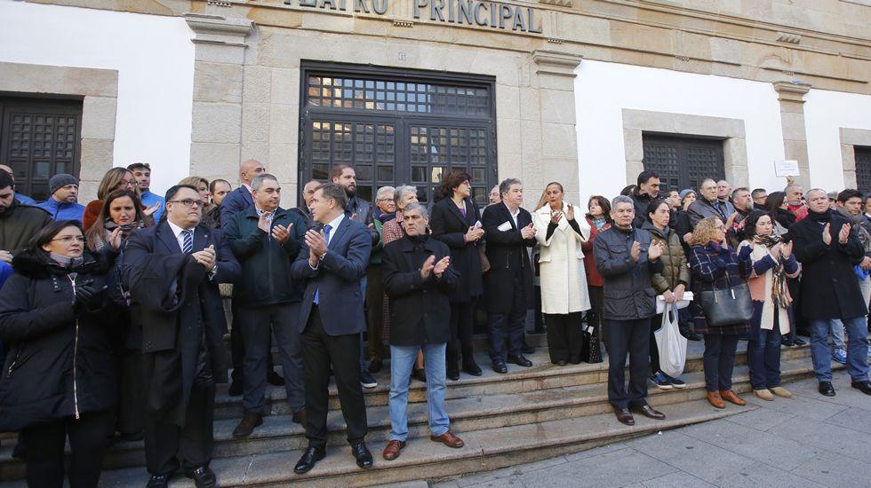 violenciamachista.Concentración de repulsa por los crímenes machistas, en Pontevedra