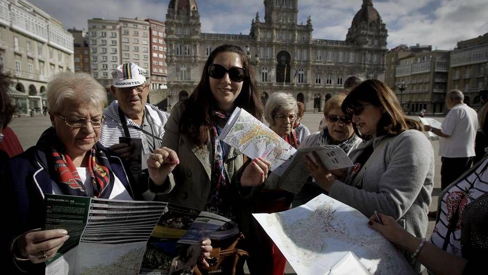 Turistas en A Coruña
