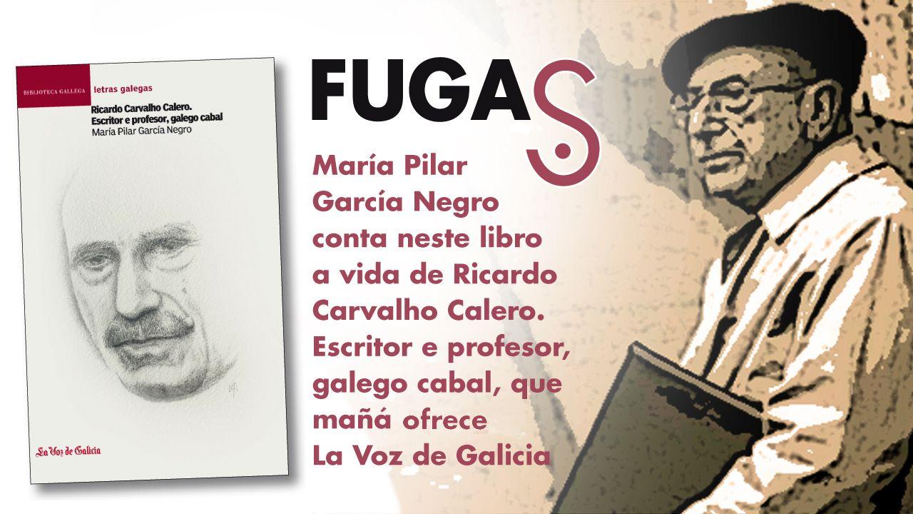 «Ricardo Carvalho Calero. Escritor e profesor, galego cabal».Estévez reside fóra desde 1969, e regresa a Galicia con frecuencia