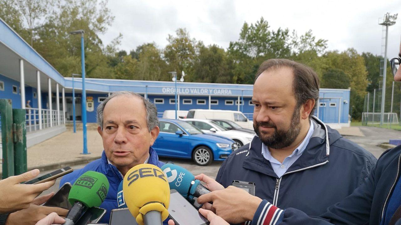Federico González y Jorge Menéndez Vallina en El Requexón