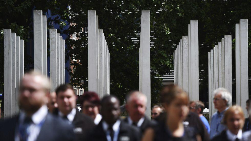 Varios ciudadanos se acercaron a Hyde Park para recordar a las víctimas
