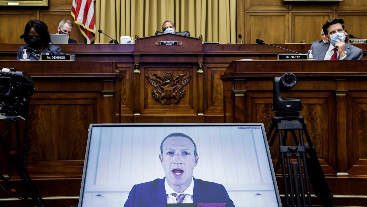Mark Zuckerberg, el mes pasado, durante su testimonio ante el Subcomité Judicial de la Camara de Representantes de EE. UU.
