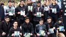 Alumnos de la Universidad de Teheran recuerda a sus compañeros muertos en el derribo del avión ucraniano