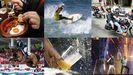Montaje collage sidra surf tapas hípico orquesta