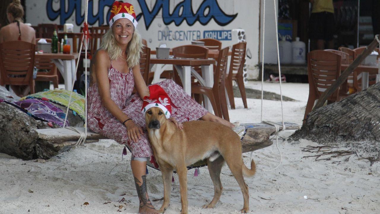 En Koh Lipe, la ferrolana Paula Sánchez pasará la Navidad a 35 grados y con los pies sobre la arena blanca y cálida de las playas tailandesas, donde esta fiesta no se celebra.