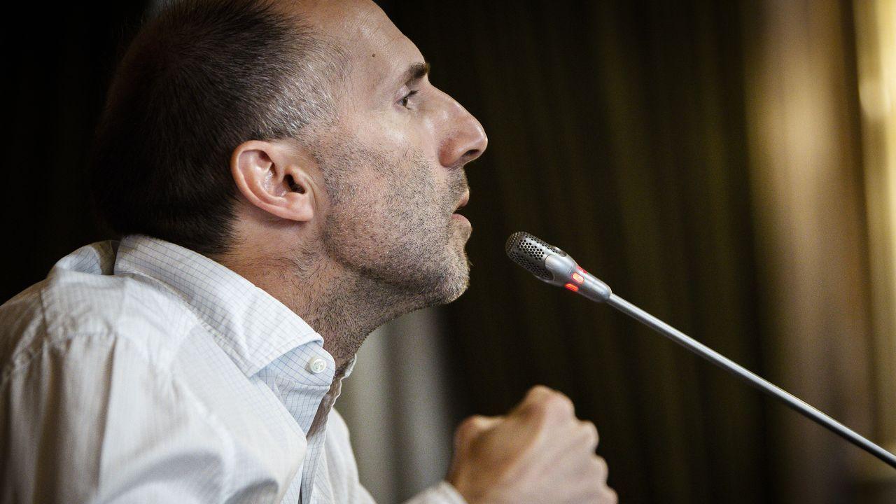 Pérez Jácome, durante el último pleno en Ourense