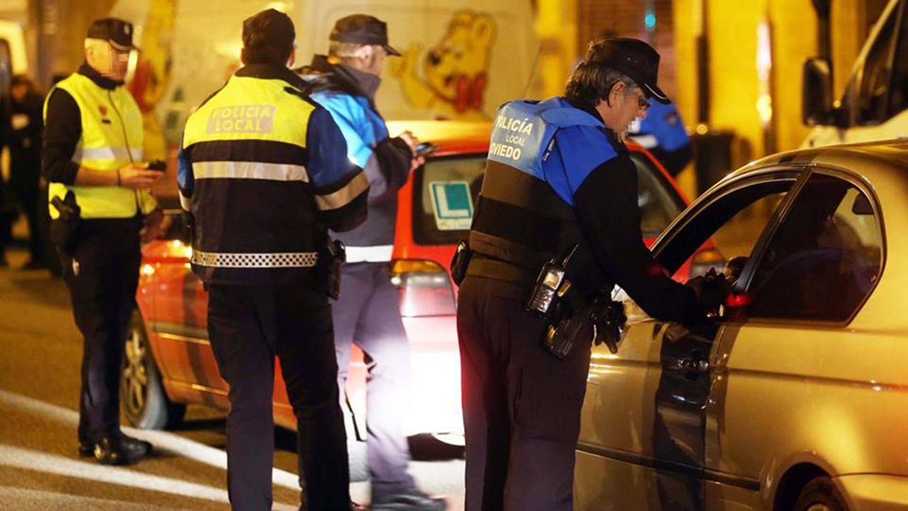 Control de alcoholemia de la Policia Local de Oviedo