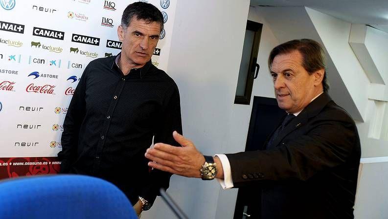 Mendilibar, en el anuncio de su continuidad en Osasuna