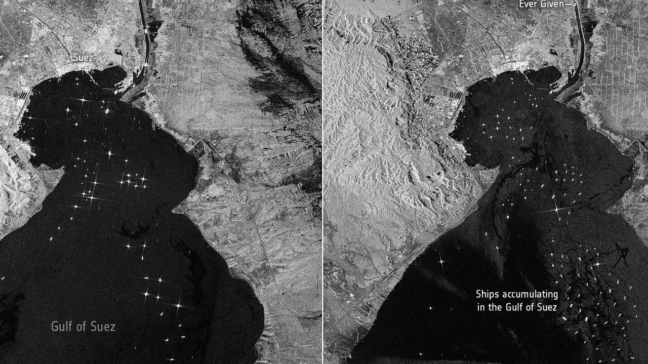 Fracasan los intentos de desencallar al megaportacontenedores del canal de Suez.Así está el Virxen dos Milagros en la costa de Nois