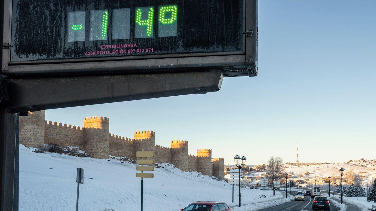 En Ávila las temperaturas cayeron por debajo de los -10 grados