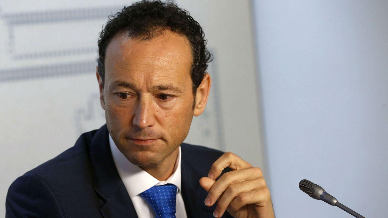 Vetusta Racing Santander Carlos Tartiere.El consejero de Presidencia, Guillermo Martínez