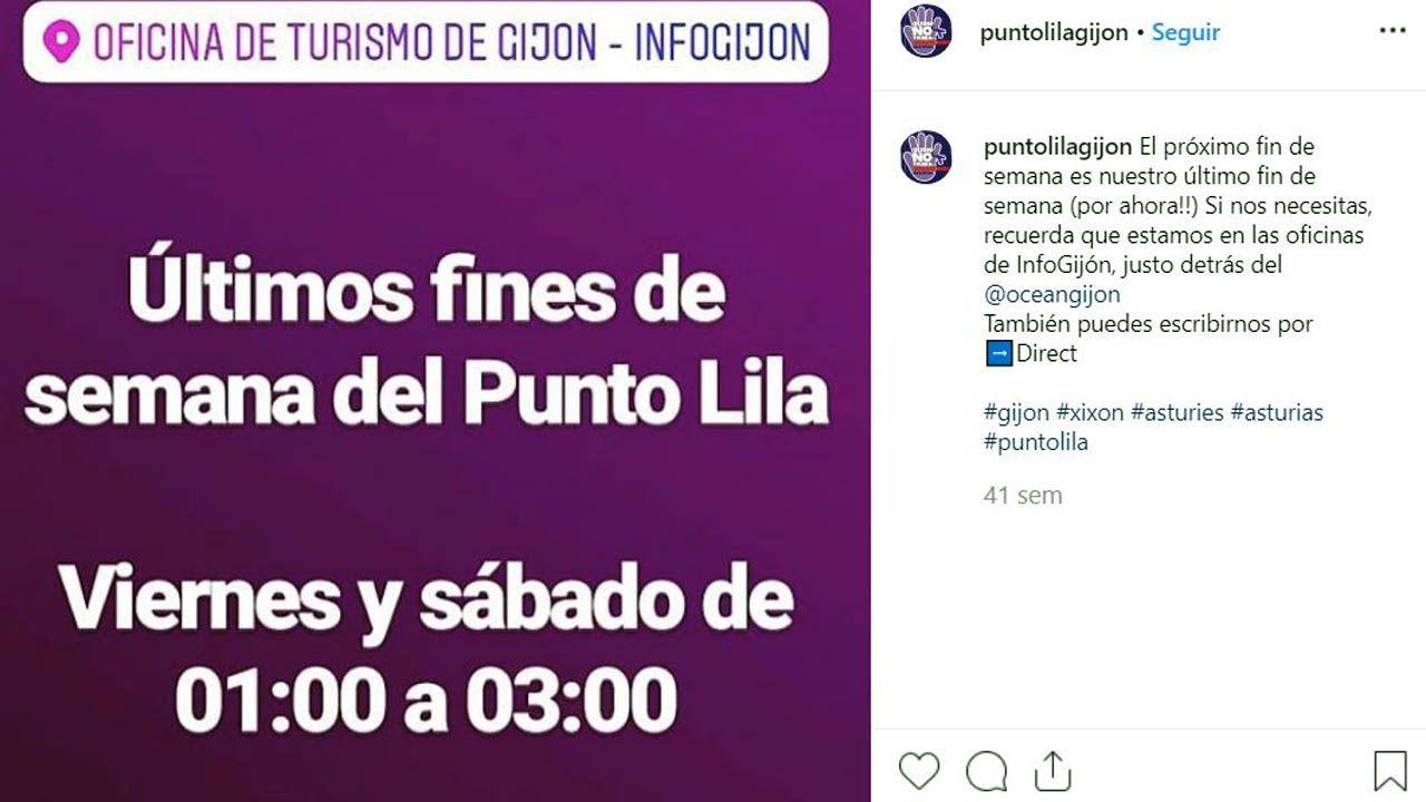 Perfil de instagram del «Punto Lila», de Gijón