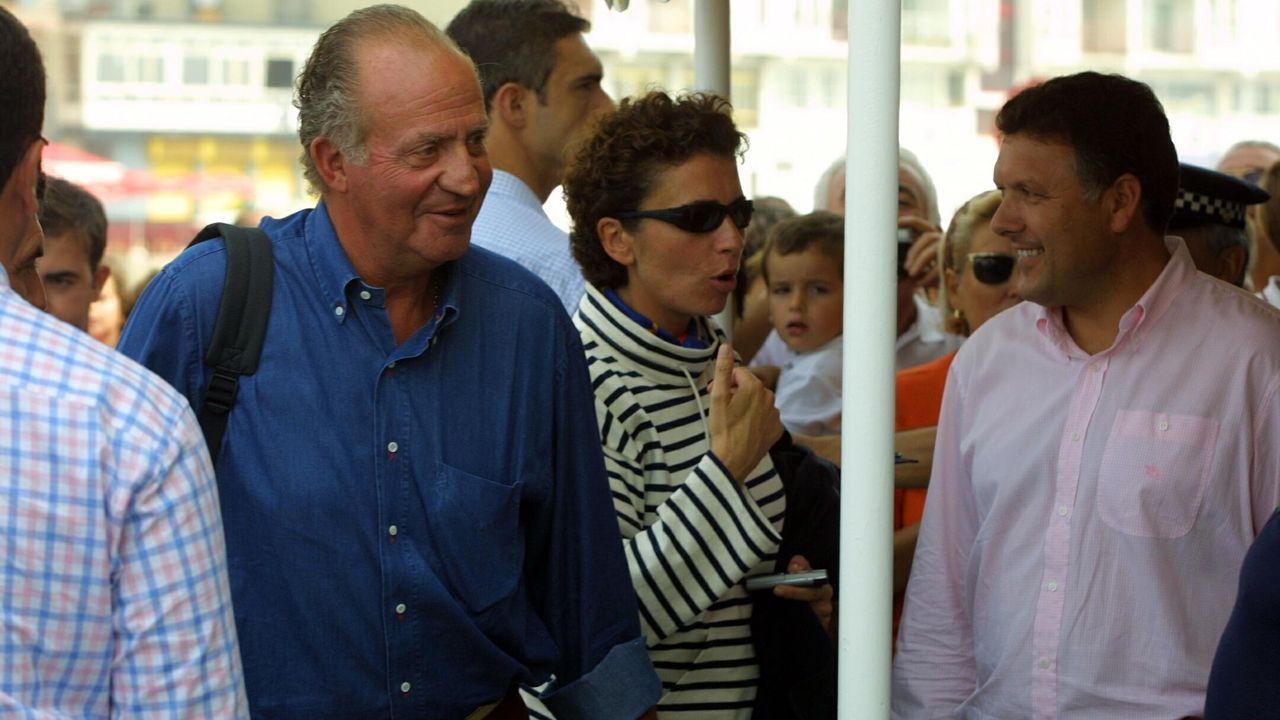 Visita a Sanxenxo del rey emérito en agosto de 2001