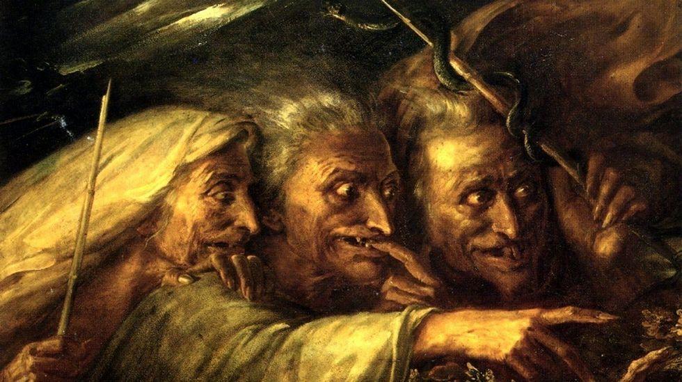 «Las tres brujas de Macbeth» (1827), óleo de Alexandre-Marie Colin. Colección particular de Mr. and Mrs. Sandor Korein