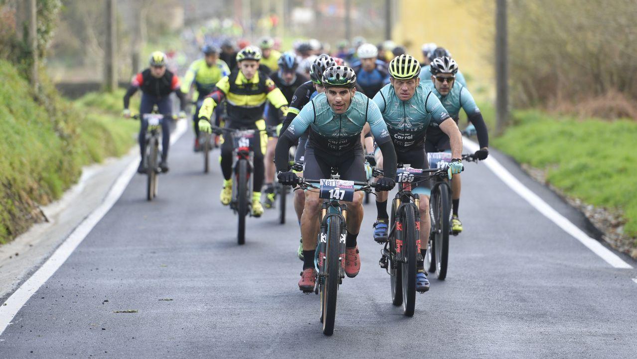 Las nueve rutas ciclistas por la montaña de Lugo.El ciclista gijonense Iván García Cortina, durante la novena etapa de la Vuelta Ciclista a España