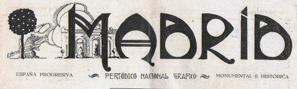 Cabeceira do periódico Madrid en 1929, ano en que publicou unha reportaxe sobre Chantada.