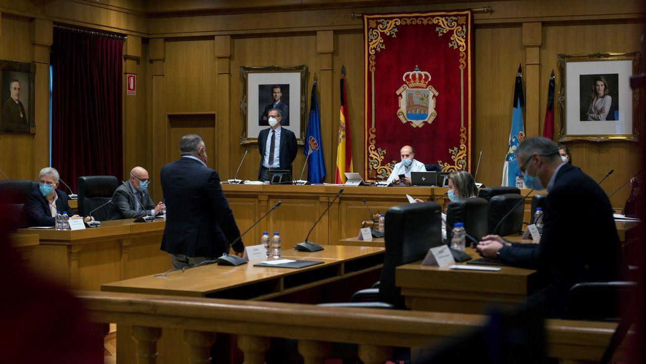 Pleno municipal celebrado este viernes en Ourense