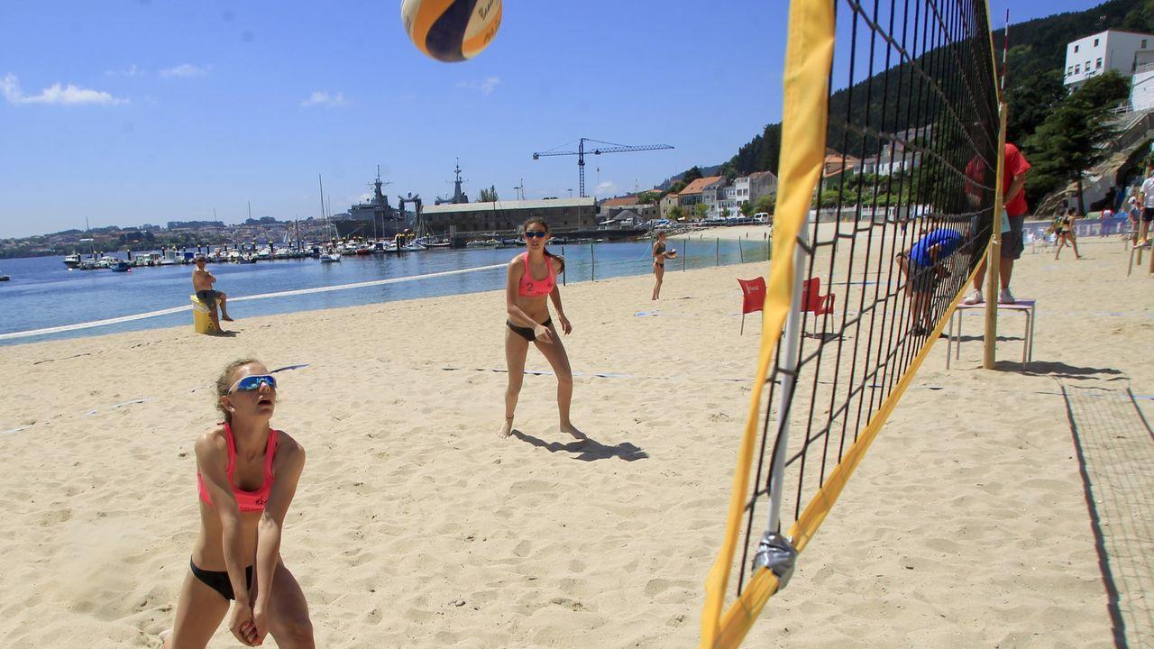 Playasen la provincia deA Coruña.La playa de A Graña, en Ferrol, figura entre las que obtienen la calificación de buena