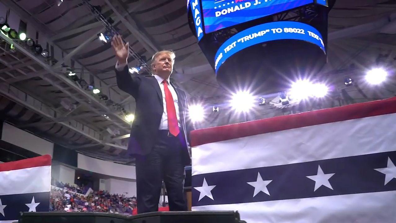 Donald Trump, durante su primer mitin para la campaña de reelección en el 2020