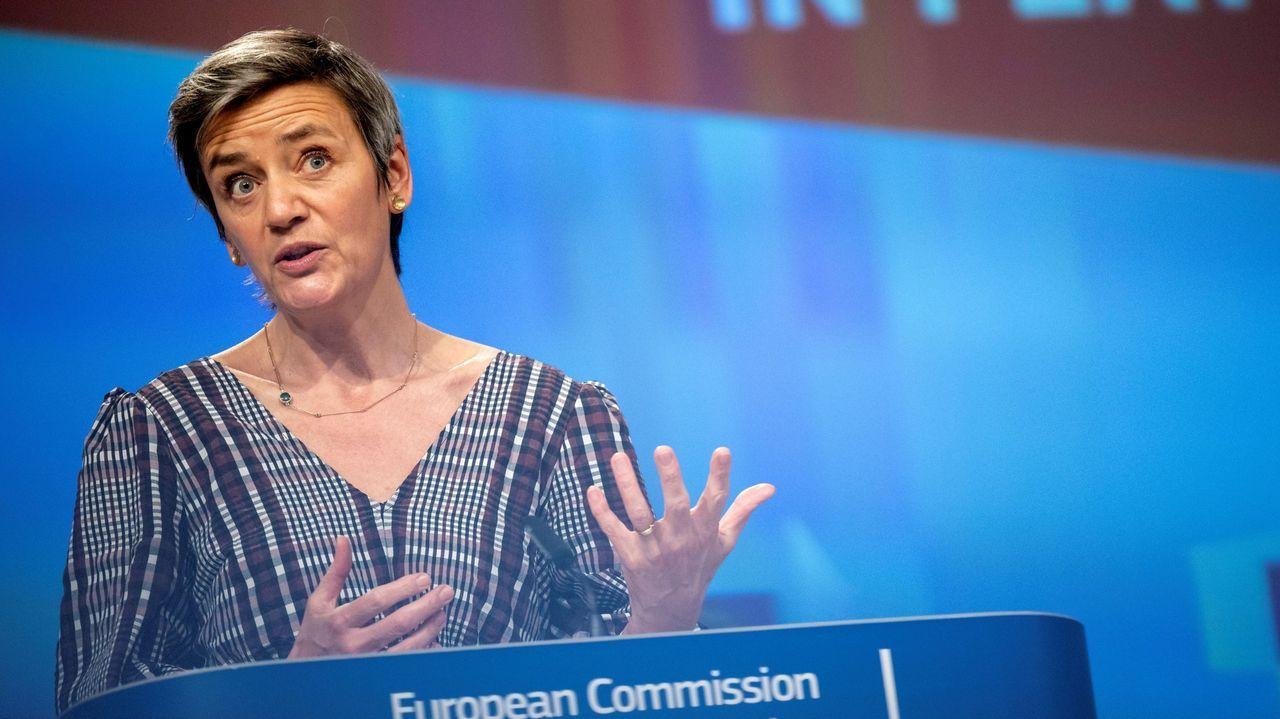 Gibraltar ensaya la nueva normalidad.La vicepresidenta de la Comisión Europea Margrethe Vestager