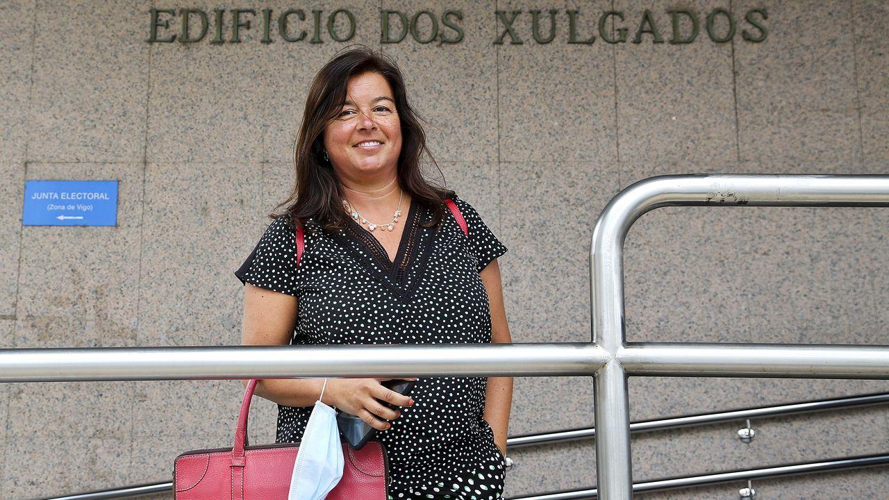 Yolanda Barreiro, abogada que ha retomado la actividad en los juzgados de Vigo