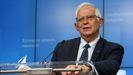 Borrell, durante su intervención tra la cumbre de ministros de Exteriores de la UE