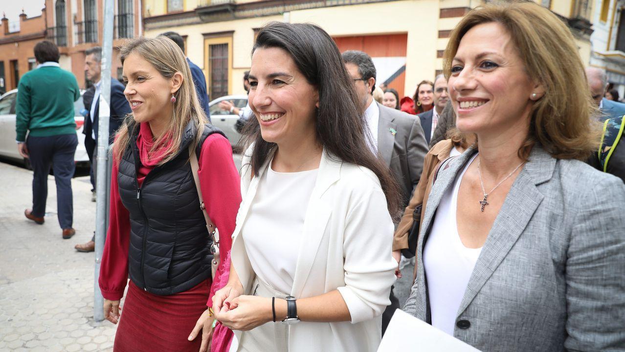 Espinosa de los Monteros reconoce la financiación de Vox en 2014 por medio del exilio persa.La presidenta de Vox Madrid, Rocío Monasterio, tras atender a los medios a las puertas del Centro Mena en Sevilla el pasado mes de noviembre