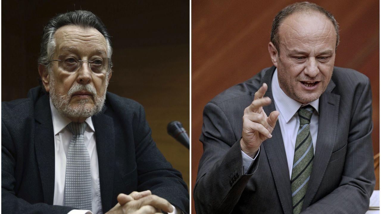 Fotos de archivo del exvicealcalde de Valencia, Alfonso Grau (i), del 2017, y del subdelegado del Gobierno en Valencia, Rafael Rubio, tomada en el 2013