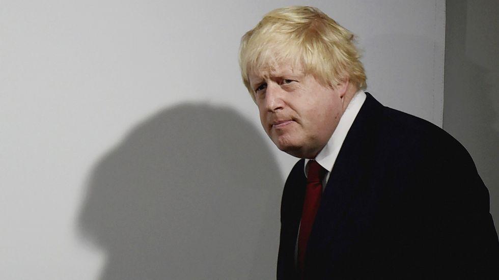 Boris Johnson, en la rueda de prensa tras conocer los resultados.