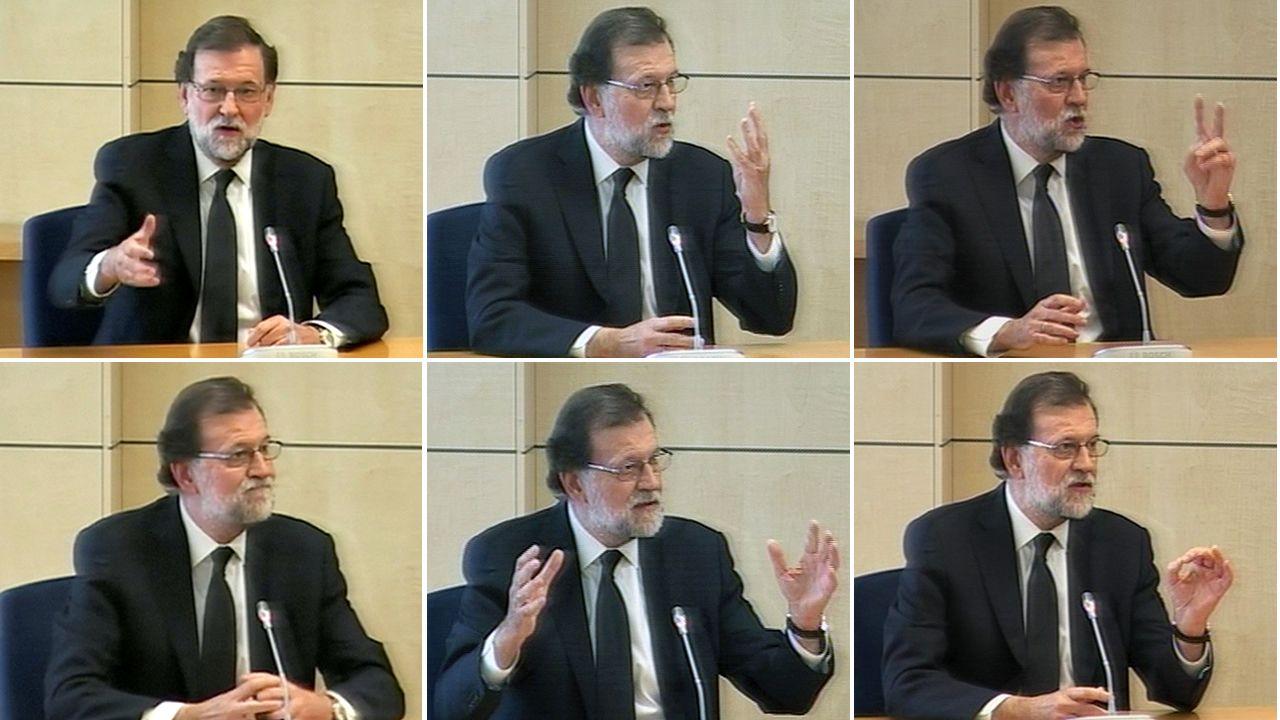 Los momentos destacados de la declaración de Rajoy.Luis Bárcenas, a su llegada a la Audiencia Nacional esta mañana