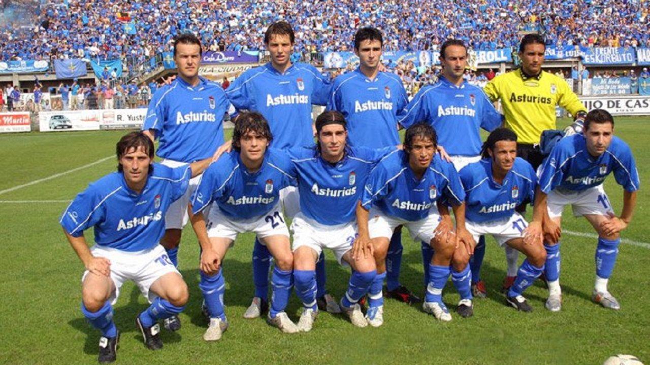 Juanchi Gonzalez Real Oviedo Avila playoff ascenso.Alineación del Real Oviedo frente al Ávila en la promoción de 2005