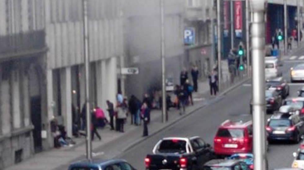 Explosión en una de las estaciones de metro de Bruselas