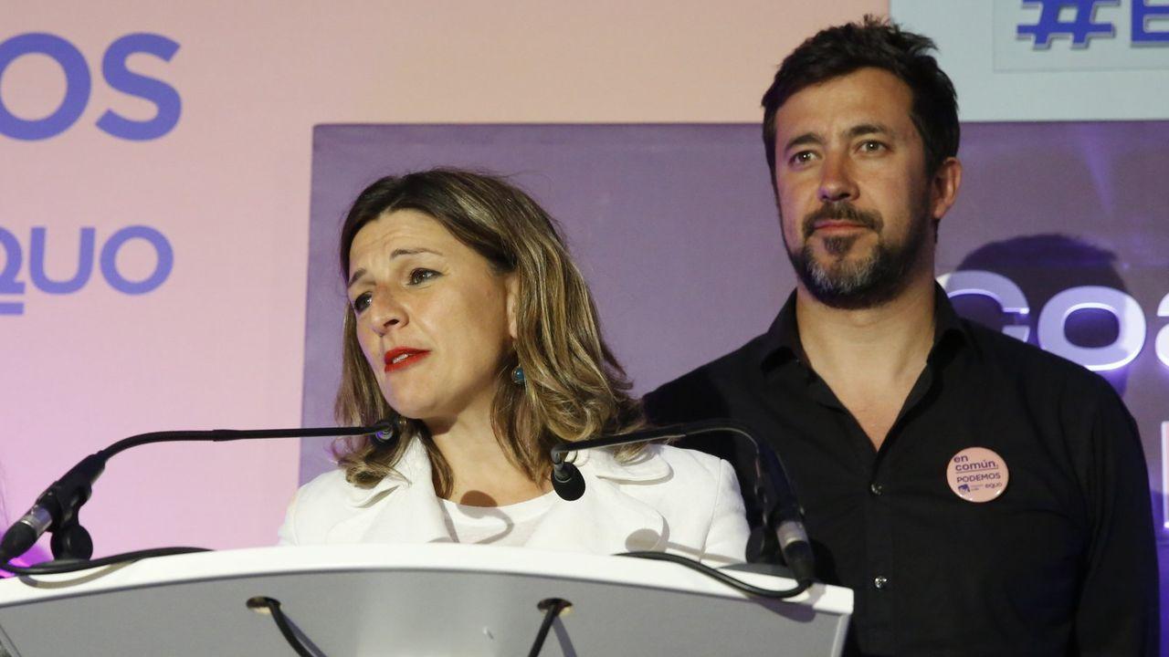 El coronavirus se ceba con la economía viguesa.Yolanda Díaz y Gómez Reino