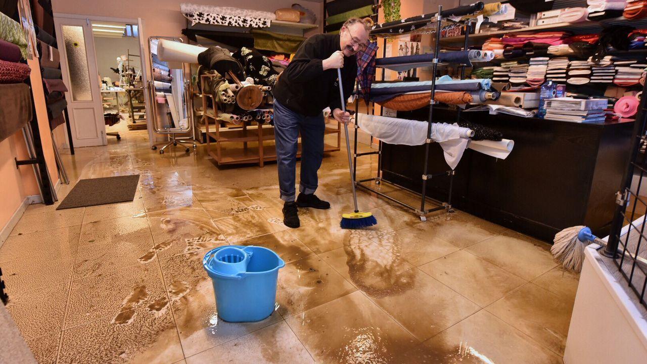 La inundaciones vuelven a desbordar Sada