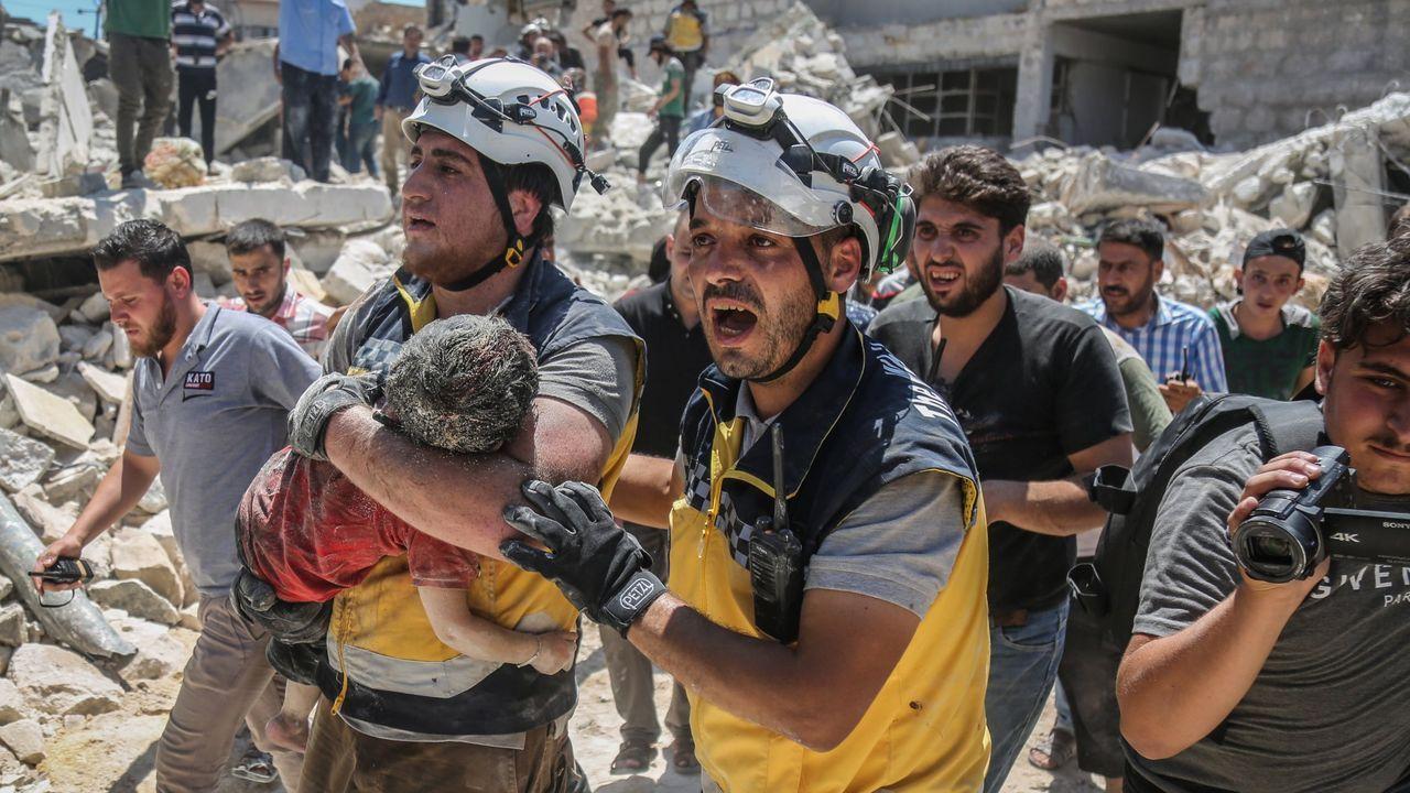 La aviación siria y rusa han castigado duramente desde hace meses las localidades de Idlib