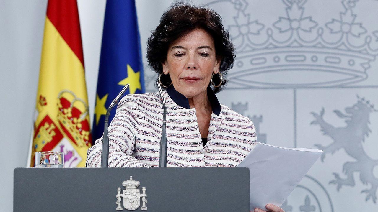 El Gobierno a Torra: «No aceptamos ultimátums».El president Quim Torra en una escuela infantil el primer día de curso