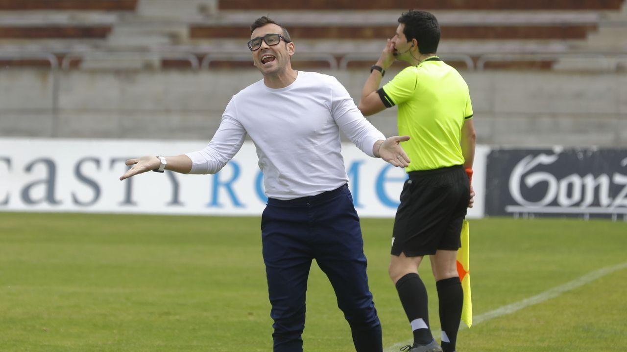 Róber Sierra, durante el Vetusta-Salamanca CF
