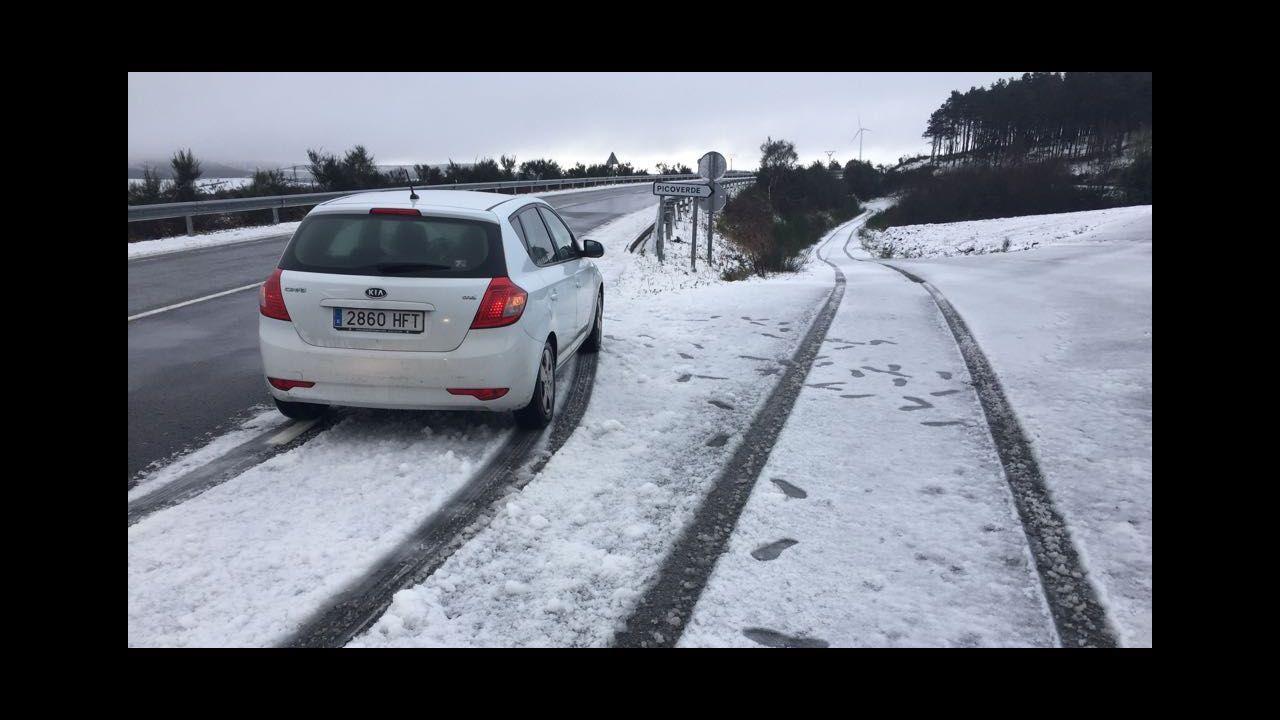 Temporal de nieve en A Mariña