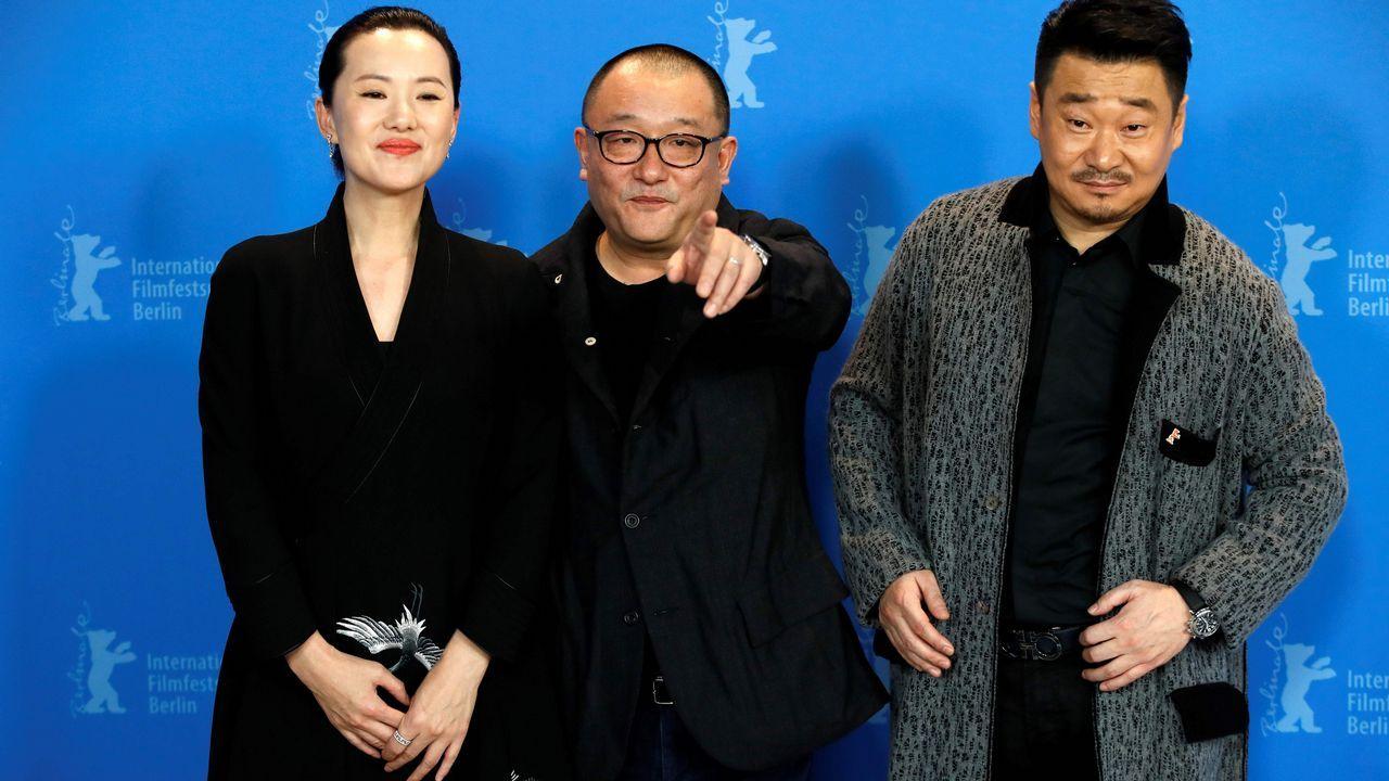 Tráiler de Port Authority.Wang Xiaoshuai, entre la actriz Young Mei y el intérprete Wang Jingchun