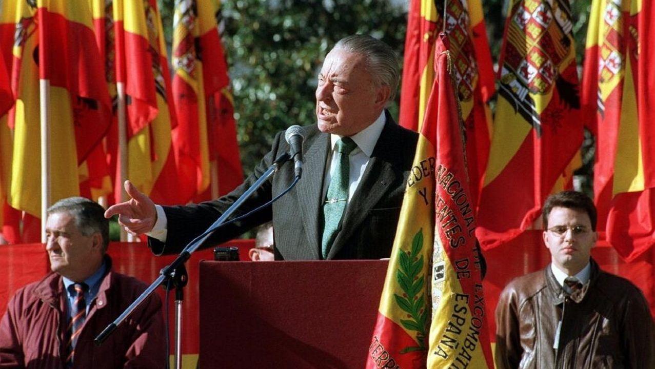 El fundador de Fuerza Nueva, Blas Piñar, fue presidente de honor de Alternativa Española